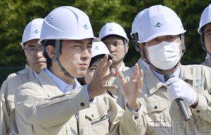 环境相小泉视察福岛第一核电站