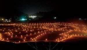 【德岛】鬼笼野的稻田灯火活动