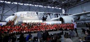 """日航推出A350机型人气组合""""岚""""涂装机"""