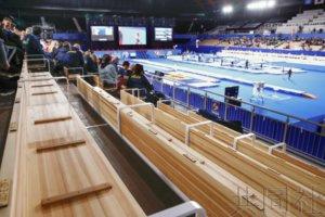木制风格的有明体操竞技场首场赛事开幕