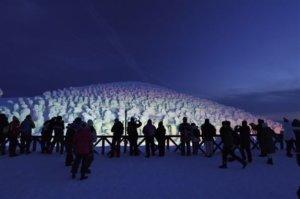 山形县「藏王树冰祭」树冰奇景最具艺术感