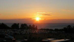 日本本岛最南端的日出:和歌山县潮岬