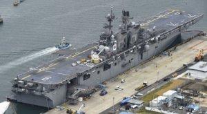 驻日美军佐世保基地部署最新两栖攻击舰