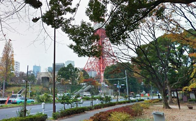 芝公園・赤羽橋付近