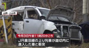 惨烈!日本85岁老太驾车撞火车后身亡 网友促立法