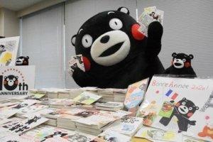 熊本熊10岁了!收到全球粉丝6千张新年贺卡签名签到「手软」