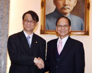 游锡堃接见日驻台代表期盼双边关系再创新局