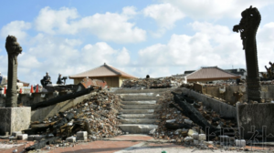 """冲绳首里城展示火灾现场 将推进""""公开重建"""""""