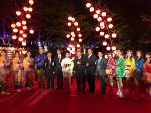 情人节何处去台湾灯会日本山口红灯笼浪漫点灯