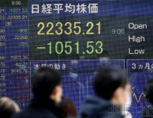 详讯:日经指数早盘一度下挫逾千点 全球股市普跌