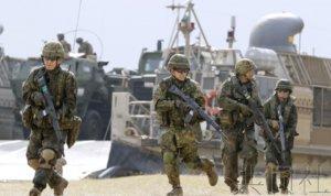 陆自与美军展示实训情况 水陆机动团参加