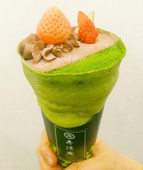 抹茶クレープ 抹茶クレープ専門店「寿清庵」公式インスタグラムから引用
