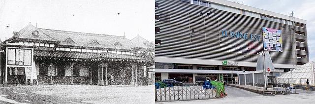 新宿駅(東口)の今昔