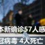 日本新确诊57人感染新冠病毒 4人死亡