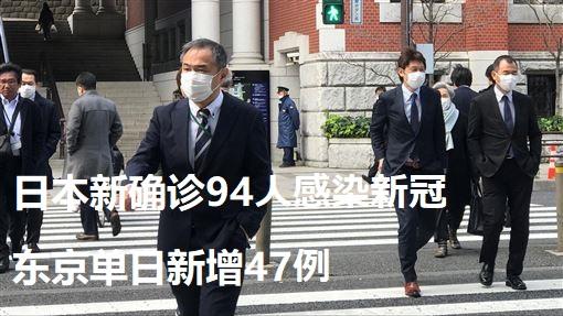 日本新确诊94人感染新冠 东京单日新增47例