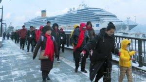 游轮取消停靠日本港口443次 损失超100亿日元