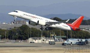 三菱支线客机SpaceJet最新试验机首次试飞