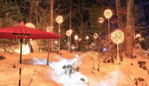日本夜景遗产「汤西川温泉雪屋祭」