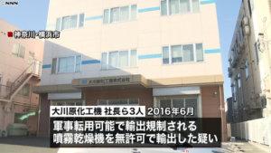 详讯:日企社长等因涉嫌非法出口可转军用的装置被捕
