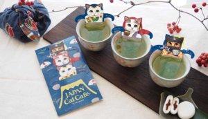 和可爱猫咪一起来享受绿茶的悠闲!日本传统猫茶包限量发售