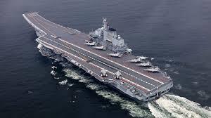 中国航母第5次通过冲绳本岛和宫古岛之间海域