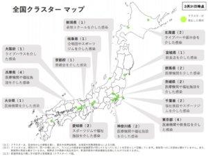 日本更新群聚感染地图分布地区倍增为26处