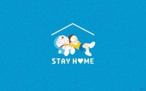 "《哆啦A梦》官方发布""STAY HOME""免费壁纸"