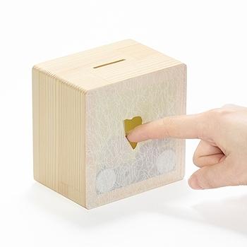 木と紙の貯金箱 KONCENT WEB SHOPから引用