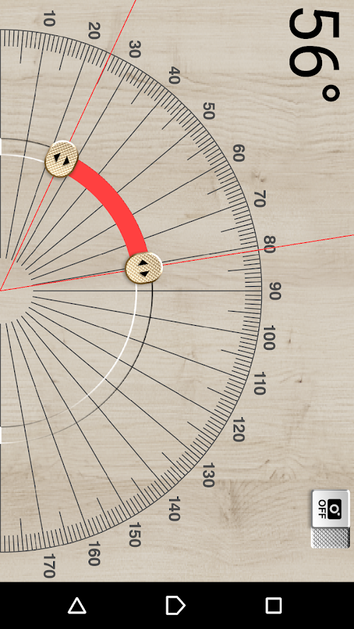 「DIY ツール ~便利なツールボックス~」の分度器機能