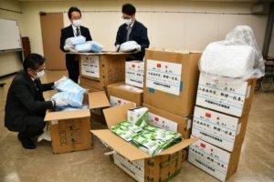 """""""聊赠一枝春"""" 扬州市向友好城市日本厚木市捐赠口罩和防护服"""