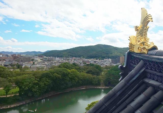 岡山城天守からの眺望
