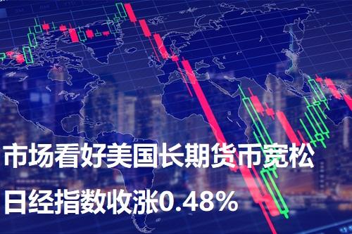 市场看好美国长期货币宽松 日经指数收涨0.48%