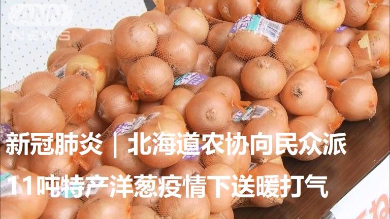 新冠肺炎|北海道农协向民众派11吨特产洋葱疫情下送暖打气