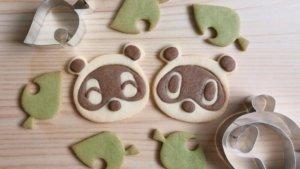 豆狸、粒狸与叶子造型饼干