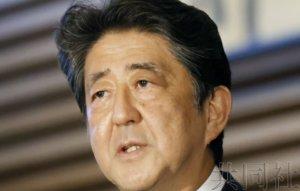 日本首相安倍在医院接受体检