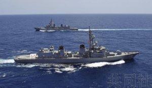 """日本""""雾雨""""号护卫舰在阿曼湾完成交接"""