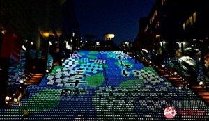 京都车站:免费欣赏大阶梯灯光秀
