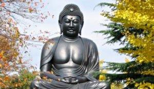 日本三大青铜制大佛之一:东京乘莲寺大佛
