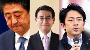 后安倍时期小泉挺河野太郎角逐自民党总裁