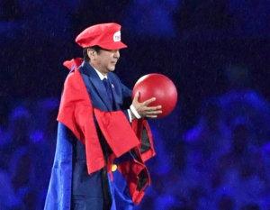 安倍里约奥运扮玛利欧遗憾无缘主持东京奥运