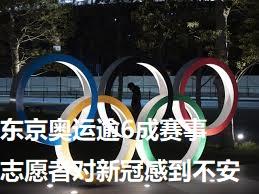 东京奥运逾6成赛事志愿者对新冠感到不安