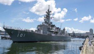 海自第三批护卫舰启程前往中东