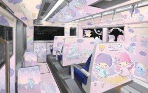 「东京单轨电车」变身梦幻列车!KIKI&LALA陪你往返羽田机场!