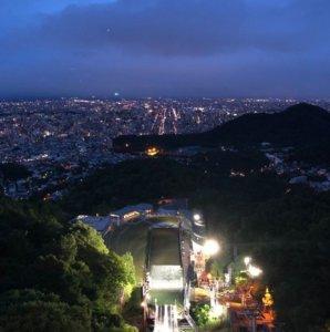 曾作为冬季奥运会场:大仓山跳台滑雪竞技场