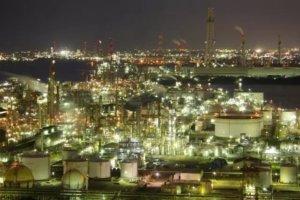 室兰市工厂夜景