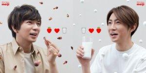 跟松本润&相叶雅纪一起喝牛奶吧!微笑正能量为你加油打气