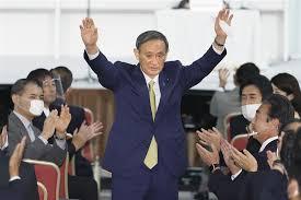菅义伟当选日本自民党总裁外交部祝贺