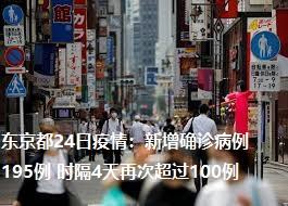 东京都24日疫情:新增确诊病例195例 时隔4天再次超过100例