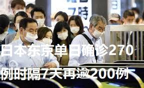 日本东京单日确诊270例时隔7天再逾200例