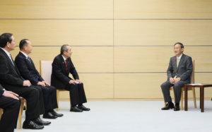 追踪菅义伟首相(12日)